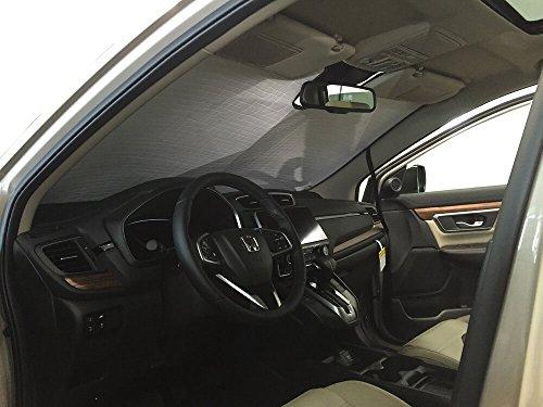 - The Original Windshield Sun Shade, Custom-Fit for Honda CR-V SUV w/Sensor 2017, 2018, 2019, Silver Series