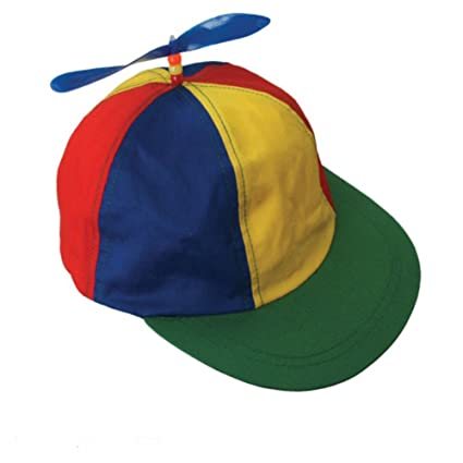 5e6ab460269 Image Unavailable. Image not available for. Color  Forum Novelties Propeller  Beanie Multi-Color ...