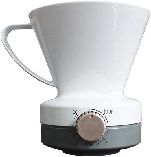Filtro de café sin papel para verter en una porción con depósito ...
