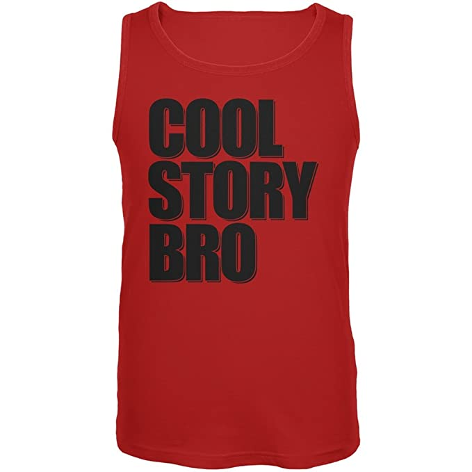 b0c793c475fde Amazon.com  Old Glory Cool Story Bro Red Adult Tank Top  Clothing