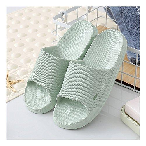Vert Chaussures d'eau de Semelle Chaussures Pantoufles Chaussures de de Mule douche Foams salle 38 de de bain bains de antidérapantes Sandales Soft piscine de douche Maison de piscine Mule 39 Clair salle gf7Bgq6n