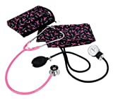 Prestige Medical Premium Aneroid Sphygmomanometer Spraguelite Kit, Pink Ribbon