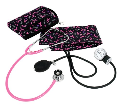 (Prestige Medical Premium Aneroid Sphygmomanometer Spraguelite Kit, Pink Ribbon)
