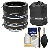 Vivitar Macro Extension Tube Set (for Canon EOS Cameras) with Pouch + Kit