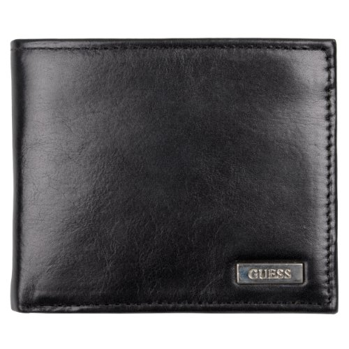 Guess Mens Genuine Leather Passcase Billfold Wallet