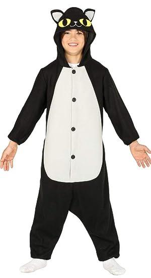 FIESTAS GUIRCA Pijama Disfraz Gato Negro niño niña: Amazon.es ...