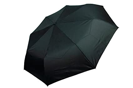 Gravidus Automático Telescopio Paraguas de bolsillo paraguas con Fibra de vidrio Marco - pequeño negro