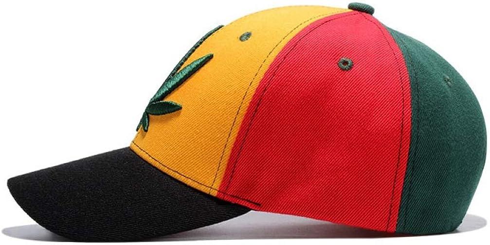 Unisex Baseball Caps Leaf Embroidery Hats Women Adjustable Snapback Cap Men Summer Outdoor Curved Cap