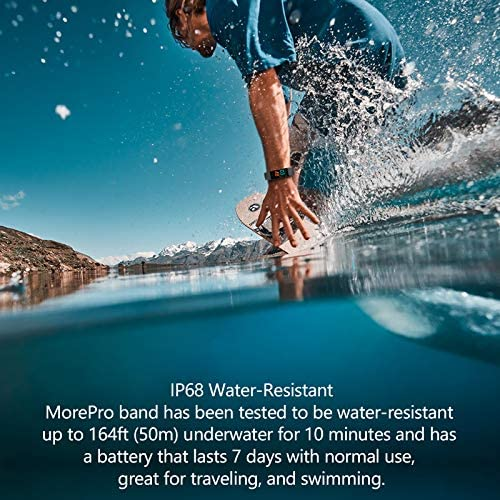 2021 Activity Fitness Tracker, MorePro Temperature Heart Rate Blood Pressure Monitor IP68 Waterproof Sport Smart Watch,Sleep Tracking Pedometer Calories Counter Health Bracelet for Women Men Kids