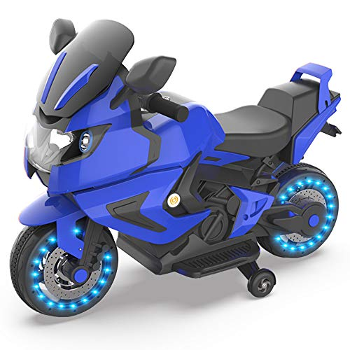 - HOVERHEART Kids Electric Power Motorcycle 6V Ride On Bike (Blue)