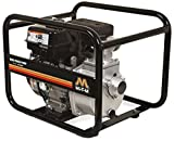 Mi-T-M WTP-S02-1MGM Semi Trash Pump, 136cc OHV Engine, Steel, 115' Maximum Head, 50 PSI, 28' Suction Lift, Black
