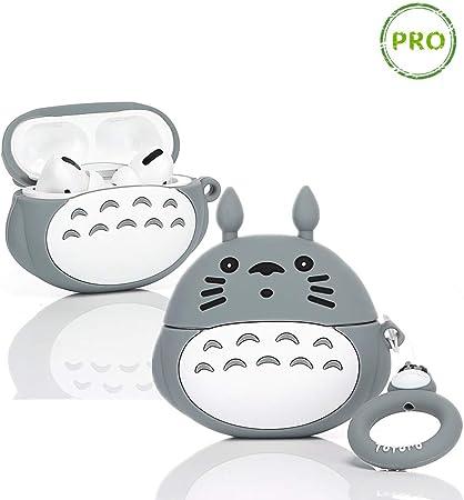 Imagen deLEWOTE Airpods Pro Carcasa de Silicona para Apple Airpods Pro, Diseño de Dibujos Animados 3D, Divertido y Lindo (3D Totoro)