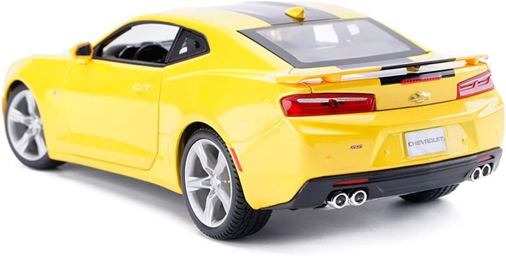 YSDHE Modelo de Coche Coche 1:18 Camaro Bumblebee Simulaci/ón de aleaci/ón de fundici/ón de Juguetes Adornos colecci/ón de Coches Deportivos joyer/ía 26x10.5x7.5 CM Color : Yellow