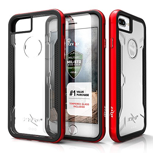 iPhone 8 Plus Case / iPhone 7 Plus Case - Zizo [Shock Series] w/[iPhone 8 Plus Screen Protector] Crystal Clear [Military Grade Drop Tested]