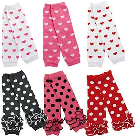 53c6aa52b2b7c HowYouth Baby Toddler 6-Pairs Cozy Soft High Stockings Leg Warmers Knitted  Kneepads
