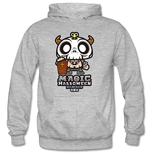 Bart Perkin Men's Hallowmas skeletons Male Hooded Sweatshirts XXL Gray