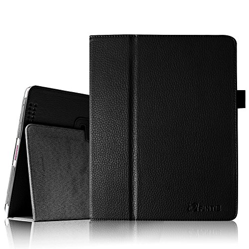 Fintie Folio PU Leather Case Cover for iPad 4th Generation With Retina Display, iPad 3 & iPad 2 (Black) - 4 Generation Cases