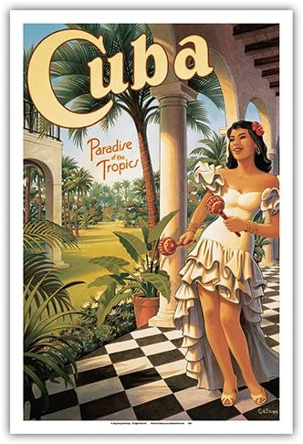"Vintage Nostalgic Travel Poster /""CUBA/"" Holiday Vacation Retro re-print"