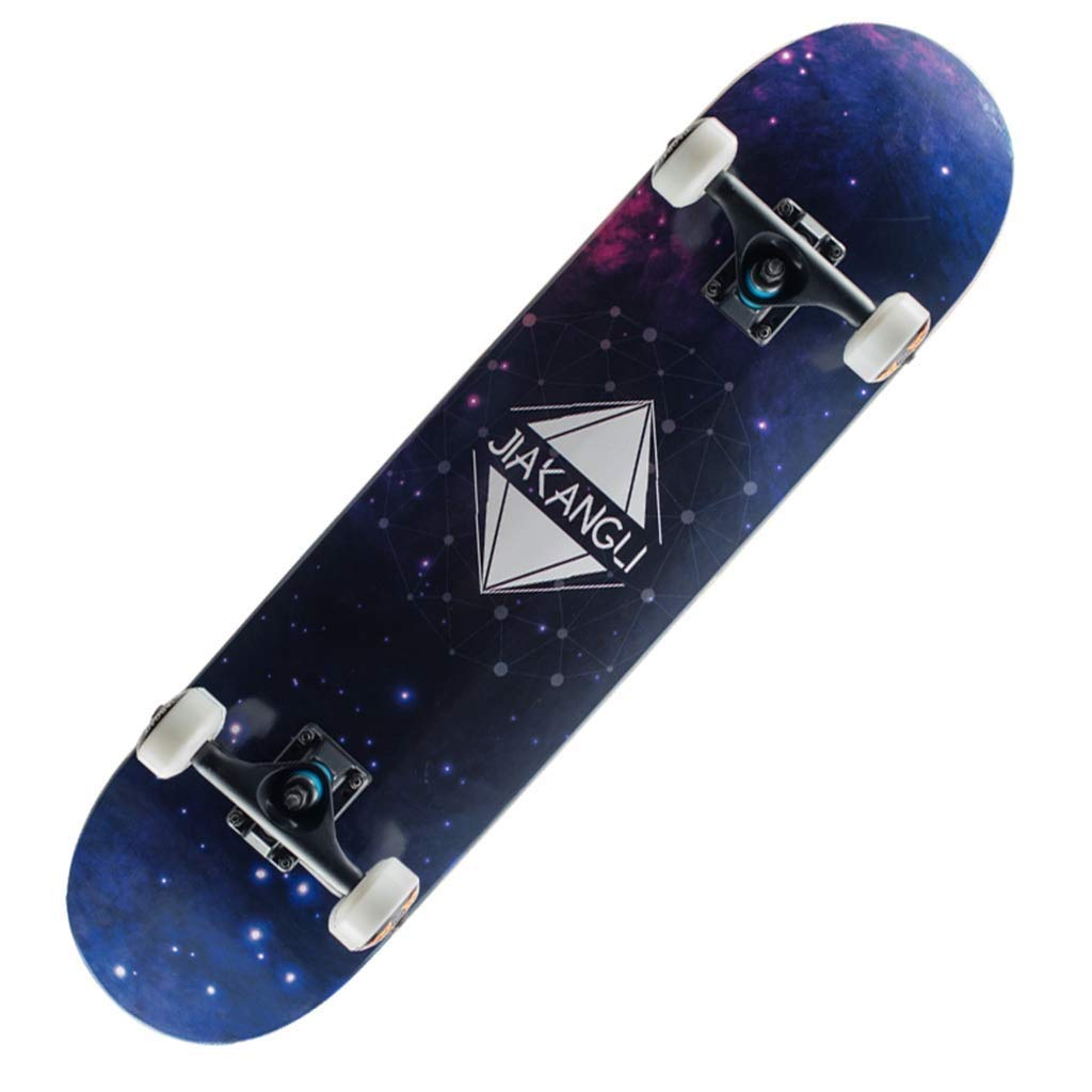ZAIHW 大人の子供のスケートボード、初心者および専門家のための落書きパターンが付いているかえでのデッキの丈夫なスケートボード A