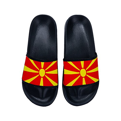 DREA Unisex-child House Sandals National Flags Slipper Beach Flats Flip Flops Open toed Shoes -