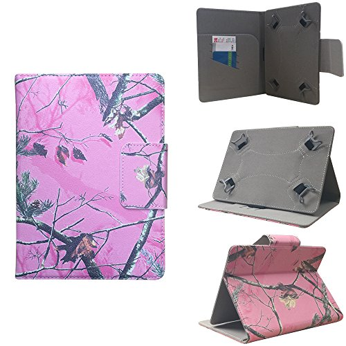 ezCASE - Kindle Fire / Fire HD Pink Camo Universal Folio Faux Leather Protector Case Cover for 7