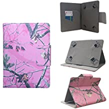 """ezCASE Pink Camo Universal Folio Protector Cover Case for 10"""" inch Tablets, Dragon Touch, Chromo, Nextbook, Tagital, iRulu, ASUS, Acer, Toshiba, RCA, iView, Dell, HP, Nexus, Galaxy Tab, Android"""