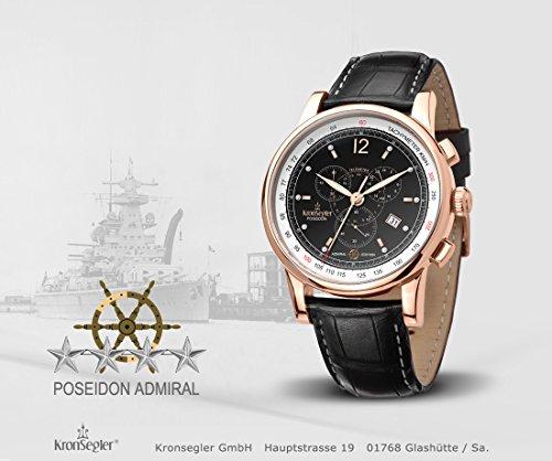 Kronsegler amiral diamant kronograf ros – svart