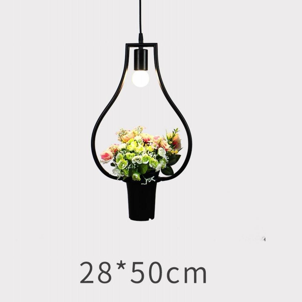 DEN Nordic modern minimalist restaurant bar coffee shop creative art green plant chandelier,H,One size