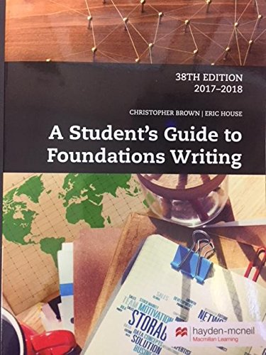 A Student's Guide To Foundations Writing w/ Access