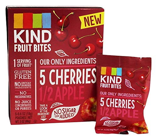 Kind Fruit Bites, Cherries & Apple, 5 Little Pouches (Pack of 2)