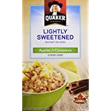 Instant Quaker Oats Quaker Lightly Sweetened Apples and Cinnamon Instant Oatmeal, 288g