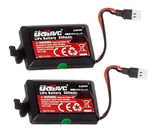 2 Genuine UDI RC 3.7V 250mAh Rechargeable Li-Po Batteries for UDI U32 Quadcopter Drone (NOT COMPATIBLE WITH any other UDI Models)
