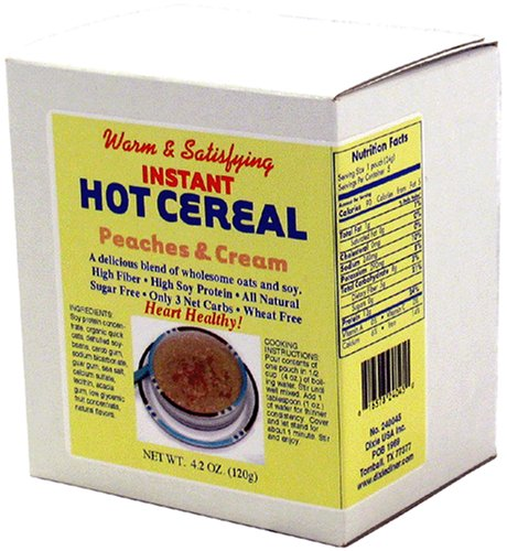 All Natural Instant Hot Cereal - Dixie Carb Counters Peaches & Cream Instant Hot Cereal