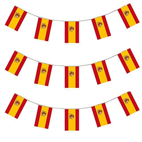 Spain Flag Banner Spanish Party Decoration by Gabby Fun Corp