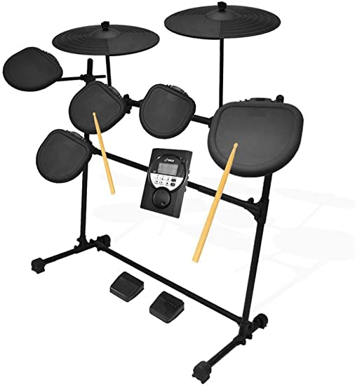 side facing pyle pro 9 piece electronic set-electric kit