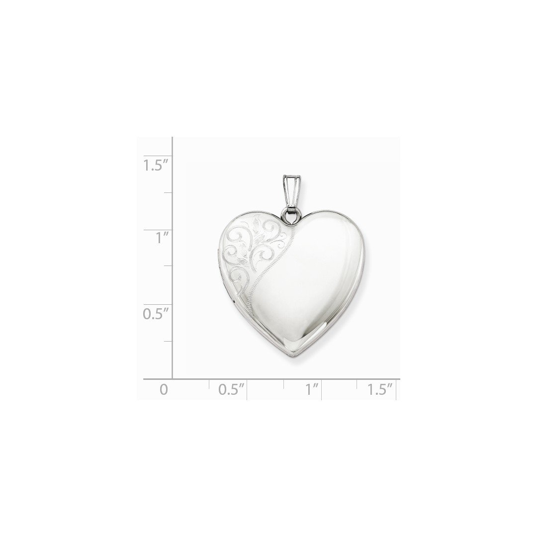 ICE CARATS 925 Sterling Silver 24mm Swirl Heart Photo Pendant Charm Locket Chain Necklace That Holds Pictures Fine Jewelry Ideal Gifts For Women Gift Set From Heart by ICE CARATS (Image #4)