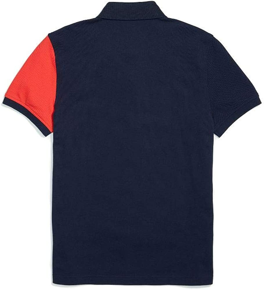 Tommy Hilfiger Mens Adaptive Polo Shirt with Magnetic Buttons Custom Fit Polo Shirt