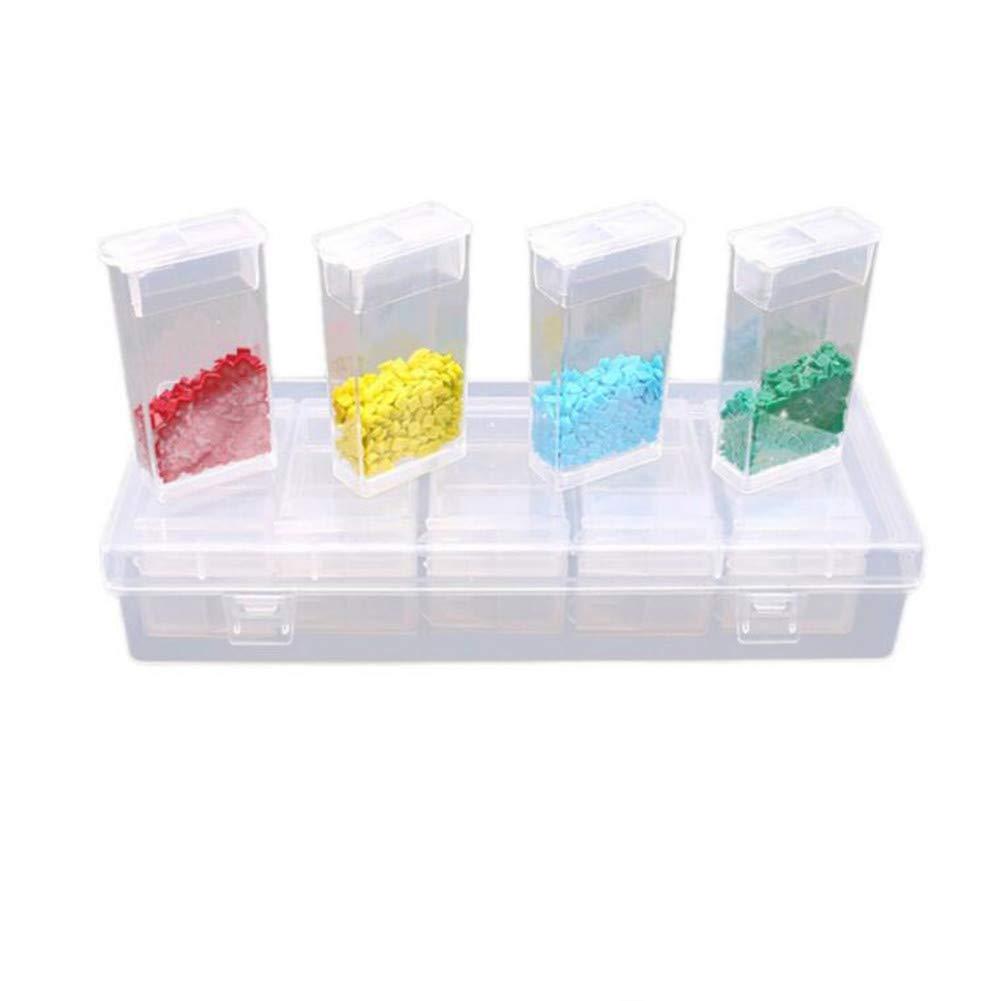 64//24//10 Grids Diamond Painting Accessories Tools Box Organizer Transparent Plastic Rhinestone Drill Mosaic Bead Storage Box Diamond Embroidery Craft Bead Pill Storage Case DIY Manicure Jewelry Box