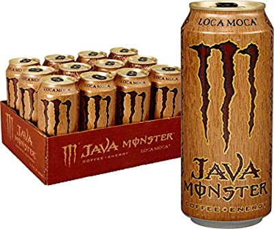 Java Monster Coffee + Energy Drink, Loca Moca, 15-Ounce Cans