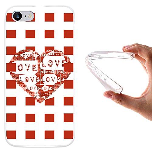 WoowCase Hülle Case für [ iPhone 7 ] Handy Cover Schutzhülle Abstrakt Herz Liebe