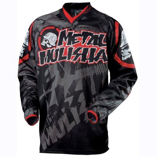 MAR エムエスアール Metal Mulisha Exposed Jersey ジャージ 上下セット ブラック/レッド M-32(81cm) B0085RGO4Q