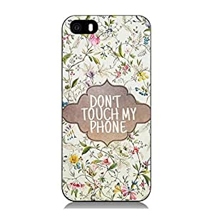 2015 CustomizedColorful Flowering Branch with DON'T TOUCH MY PHONE Warning Iphone 6 Case.(SJKwm58)