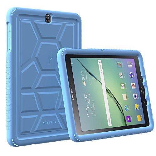 Galaxy Tab A 9.7 Case - Poetic [Turtle Skin Series]-[Corner/Bumper Protection][Tactile Side Grip][Sound-Amplification][Bottom Air Vents] Protective Silicone Case for Samsung Galaxy Tab A 9.7 Blue