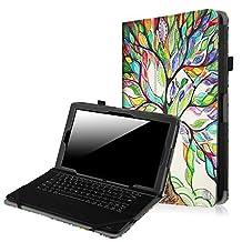 "Fintie RCA 10 Viking Pro / Viking II / Cambio W101 V2 Case, Premium PU Leather Folio Stand Cover For 10 inch RCA 10 Viking Pro / Viking II / Cambio W101 (V2) 10.1"" 2-in-1 Tablet, Love Tree"