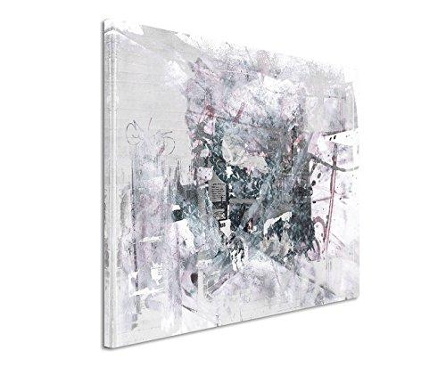Leinwandbild abstrakt schwarz grau weiß Paul Sinus Abstrakt/_522/_120x80cm