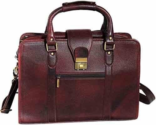 ZipperNext Genuine Leather Messenger Bag 15.6