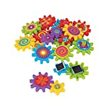 Fun Express - Magnetic Spinning Gears - Toys - Active Play - Blocks & Construction - 22 Pieces