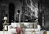 Photo wallpaper wall mural - Cobble Narrow Street Facades Vespa - Theme Travel & Maps - L - 8ft 4in x 6ft (WxH) - 2 Pieces - Printed on 130gsm Non-Woven Paper - 1X-1154397V4