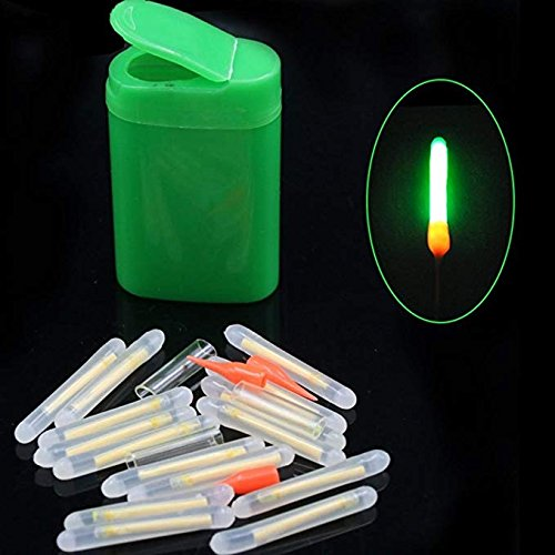Dingq 15pcs Mini 4.5x36mm Fishing Fish Fluorescent Lightstick Light Night Float Rod Lights Dark Glow Stick ()