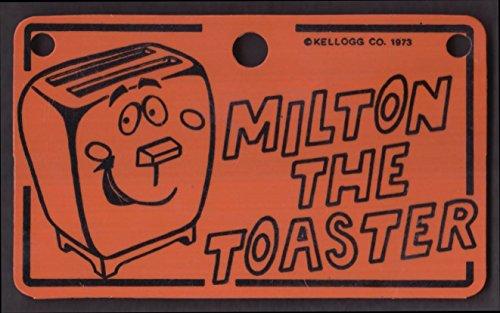 Kellogg's Pop-Tarts Milton the Toaster plastic license plate 1973
